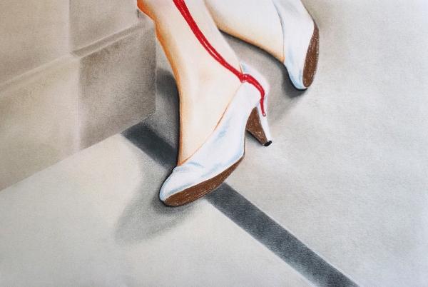 Dead white shoes